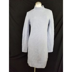 Missguided Size 10 Blue Knit Dress Sweaterdress